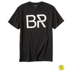 Banana Republic Factory Graphic Tee Size XXL - Black (€18) ❤ liked on Polyvore featuring tops, t-shirts, banana republic t shirts, crew neck tee, short sleeve graphic tees, crewneck tee and short sleeve tee