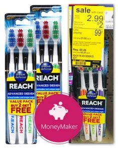 Moneymaker Reach Toothbrushes at Walgreens!