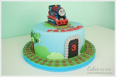 thomas train cake - Google Search