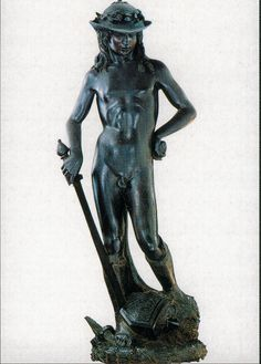 Donatello's Young David - Renaissance  Housed in the Bargello, Florence, Italy