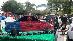2014 Frankfort Fall Festival Parade - Spiderman car #Spiderman #Parade