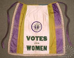 Votes for women apron. http://www.amazon.com/Divided-Paths-Common-Ground-Pioneering/dp/1557535914/ref=pd_sim_sbs_b_1