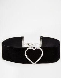 ASOS Heart Velvet Choker Necklace