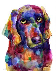 Colorful Weimaraner Dog Art Painted Portrait Painting Painting by Svetlana Novikova - Colorful Weimaraner Dog Art Painted Portrait Painting . Dog Pop Art, Dog Art, Watercolor Animals, Abstract Watercolor, Abstract Art, Dog Paintings, Weimaraner, Pastel Art, Pet Portraits