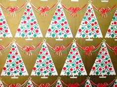 Vintage Christmas Wrapping Paper - Nonna's Baby • The CUTEST baby clothes and accessories you will EVER find anywhere in the UK! • Visit our online shop: www.nonnasbaby.co.uk