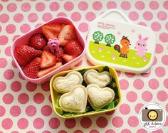 mini sealed heart sandwiches, so cute!