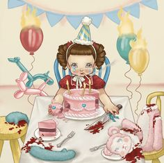 Her birthday was around the bend She invited him and all her friends None of which did attend Her happiness came to an end