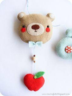 Cute felt bear