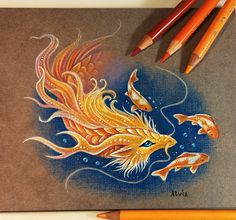 Golden Koi dragon I like that legend from Chineese mythology about a carp,that became a golden dragon #golden#dragon #koi