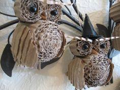 Cardboard Owls | Recyclart