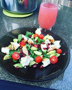 Chicken and Pomegranate Seed Summer Salad