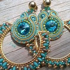 Earrings Soutache #orecchini artigianali #fashion style #made in Italy #fatto a mano #broidery€beadsmania#instacool#Daniela Cipolla #