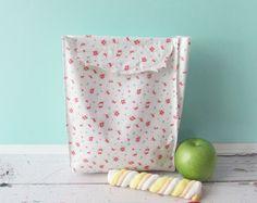 Lunch sack, snackbag, trucks and tractors,kids lunch bag, school lunch, reusable…