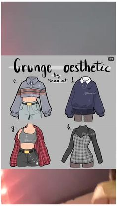 Teen Fashion Outfits, Anime Outfits, Grunge Outfits, Cute Art Styles, Cartoon Art Styles, Fashion Design Drawings, Fashion Sketches, Kleidung Design, Drawing Anime Clothes