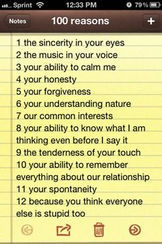 52 reasons why i love you list for girlfriend