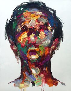 South Korean visual artist Shin KwangHo elevates the art of portraiture to a whole new level with fascinating, textured paintings that speak as much about the subject as they do about KwangHo's energy and confidence.