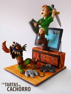 This 'Legend Of Zelda Cake' Features Link Popping Out Of A TV