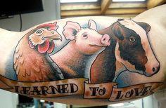 Tatuajes veganos.