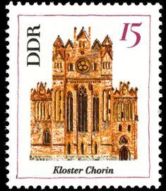 Stamp: Monastery Chorin (Germany, Democratic Republic (DDR)) (Architecture) Mi:DD 1247,Sn:DD 890,Yt:DD 944,Sg:DD E966