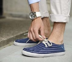 Vans Rata Vulc Striped Navy Shoes