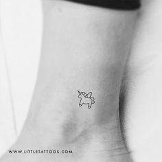 Minimalist Unicorn Temporary Tattoo - Set of 3 – littletattoos Gay Best Friend, Best Friend Tattoos, Tattoo Set, Little Tattoos, Matching Tattoos, Pretty Tattoos, Temporary Tattoo, Tattoos For Women, Tatting
