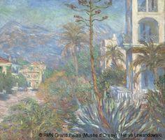 Claude Monet,Las Villas en Bordighera,1884. Museo de Orsay,Paris.