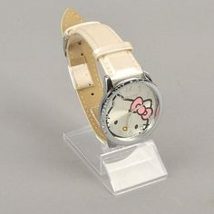Hello Kitty Large Face Quartz Watch - White Band + Hello Kitty Pouch  Extra Battery