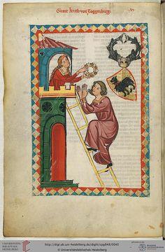 Codex Manesse, Graf Kraft von Toggenburg, Fol 022v, c. 1304-1340