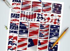 usa flag planner sticker america united states di LaSoffittaDiSte