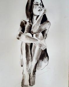 Figure study in progress ink on paper #fineart #drawings #illustration #contemporaryart #fashion #inprogress #process #inks #figurestudy #thebody #expressive #creative #inspiration #artoftheday #picoftheday #instaart #artistoninstagram http://ift.tt/2es9akz