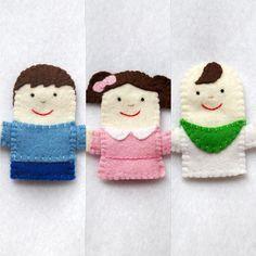 Finger Family Felt Puppets Finger Family Daddy Mommy