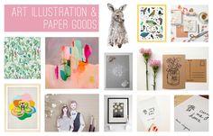 The @etsy 'Art Illustration & Paper Goods' finalists in the #etsydesignawards, https://etsydesignawards.com.