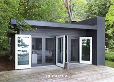 Most people dream of a large house, I dream of living in a small cabin in the woods. Smitten Studio.