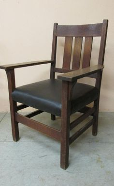 Gustav Stickley Arm Chair, Signed With A Red Decal. This Chair Has A Very