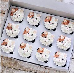 Ich bin dabei, 103 Kommentare - Brooke Haven (brookiescookiesco) en Instag - Food Art - Cake Decorating Techniques, Cake Decorating Tips, Cookie Decorating, Kitty Cupcakes, Animal Cupcakes, Puppy Cupcakes, Frost Cupcakes, Flower Cupcakes, Cupcakes Design