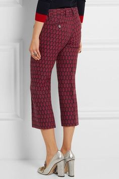 Gucci - Woven Wool Flared Pants - IT42