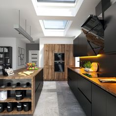 Eco plus rooflights installed in kitchen area Roof Window, Healthy Living Magazine, House Stairs, Flat Roof, Skylight, Contemporary Decor, Home Interior Design, Architecture Design, Kitchen Cabinets