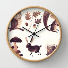 What you might find in the forest Wall Clock