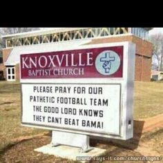 Too Funny!!  Roll Tide Roll!     For Great Sports Stories and Funny Audio Podcasts, Visit www.RollTideWarEagle.com