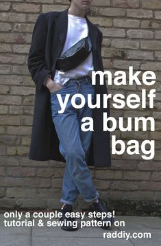 Bumbag fanny pack tutorial & sewing pattern. Only a couple of simple steps…