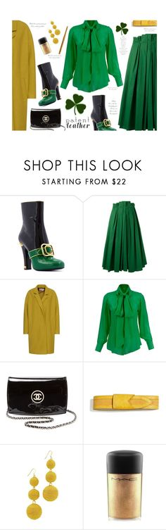 """""""City Slickers: Patent Leather'"""" by dianefantasy ❤ liked on Polyvore featuring Rochas, Chanel, Karen Zambos, Kenneth Jay Lane, MAC Cosmetics, NYX, patentleather, polyvorecommunity and polyvoreeditorial"""