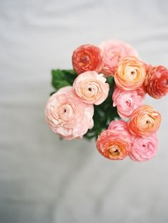 A bouquet of ranunculus for the lady.