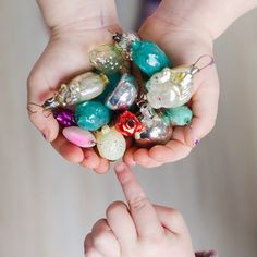 32 Mini Christmas ornaments Vintage Soviet  Small by Grannysbox