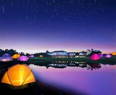 lake camping with beauful night sky Camping Photo, Lake Camping, Camping Accessories, Camping Equipment, Night Skies, Tent, Northern Lights, Sky, Travel