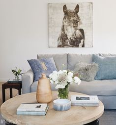 Shop Lea Michele's House: How to Get Her Modern Organic Style at Home - LIVING ROOM DETAIL from InStyle.com