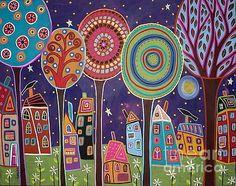 Night Village by Karla Gerard