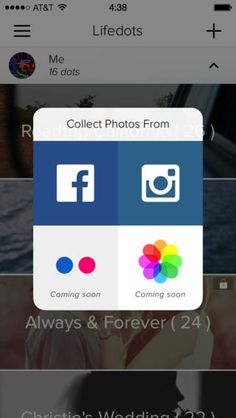 Lifedots: a new way to collect memories  (build photo collections form your social networks).