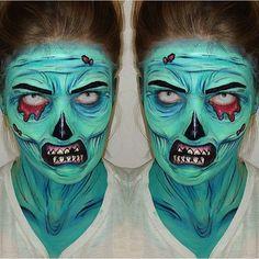 Creepy Cool Zombie Inspired Fx Makeup Source Instagram