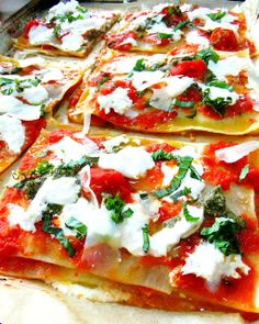 Little Lasagnas with Tomato, Burrata and Pesto - Proud Italian Cook