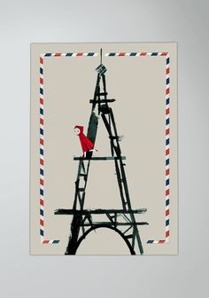 Little Riding Hood in Paris by milimbo on Etsy, €25.00